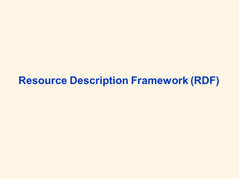 Spezifikationen: http://www.w3.org/RDF/#specs