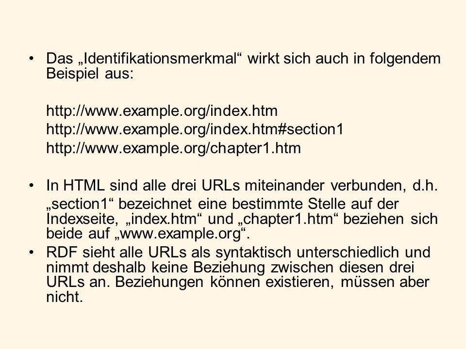 Das Identifikationsmerkmal wirkt sich auch in folgendem Beispiel aus: http://www.example.org/index.htm http://www.example.org/index.htm#section1 http: