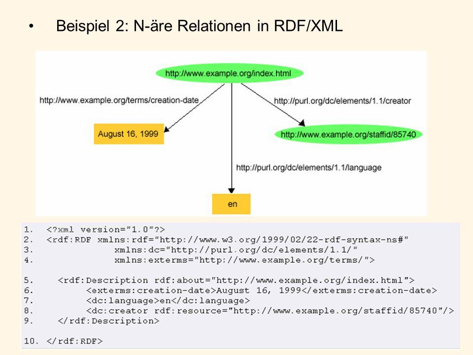 Beispiel 2: N-äre Relationen in RDF/XML