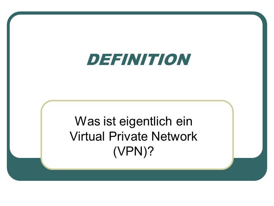 DEFINITION Was ist eigentlich ein Virtual Private Network (VPN)?