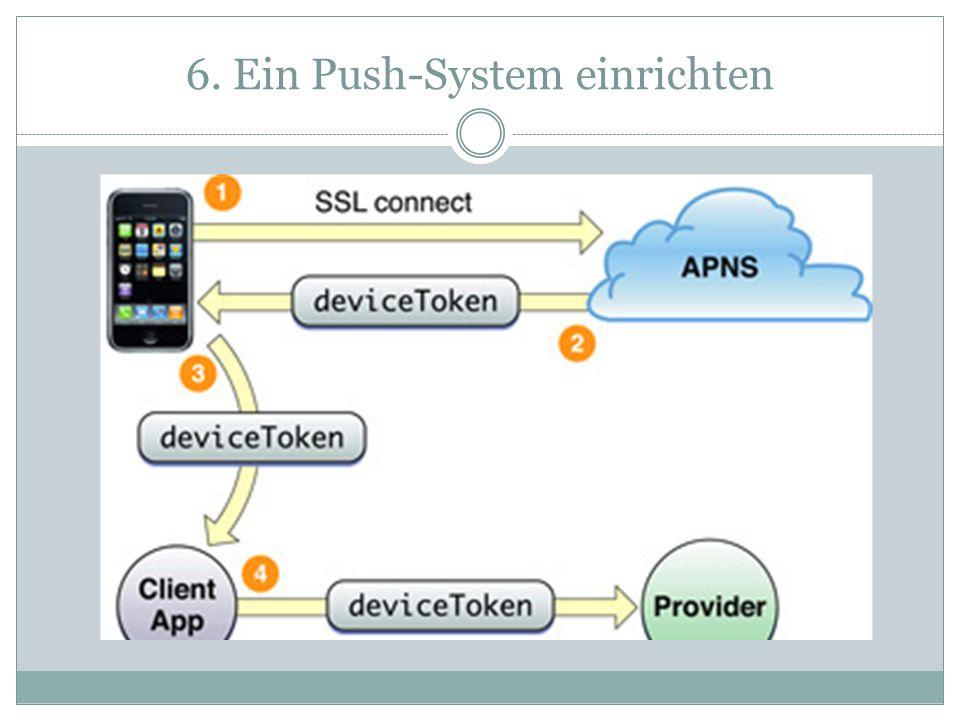 6. Ein Push-System einrichten