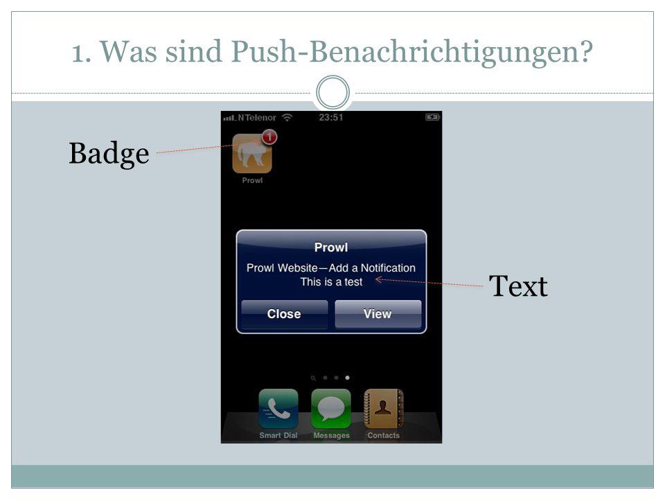 1. Was sind Push-Benachrichtigungen? Badge Text