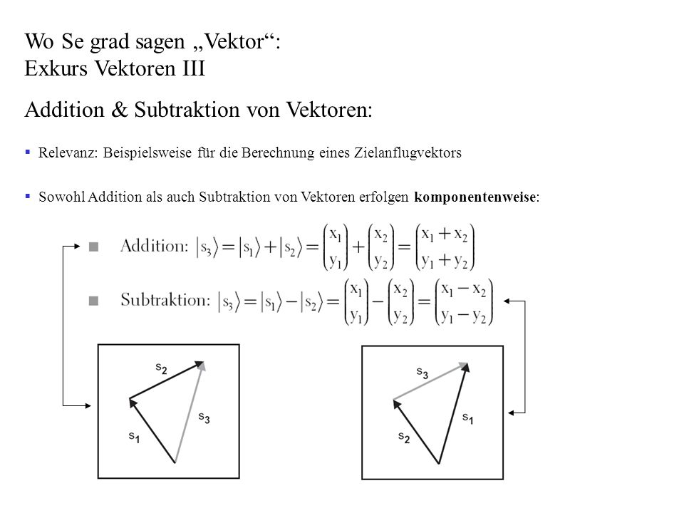 Anhang C - Normal-/Einheitsvektor -> Vektor, dessen Betrag = 1 ist (s.