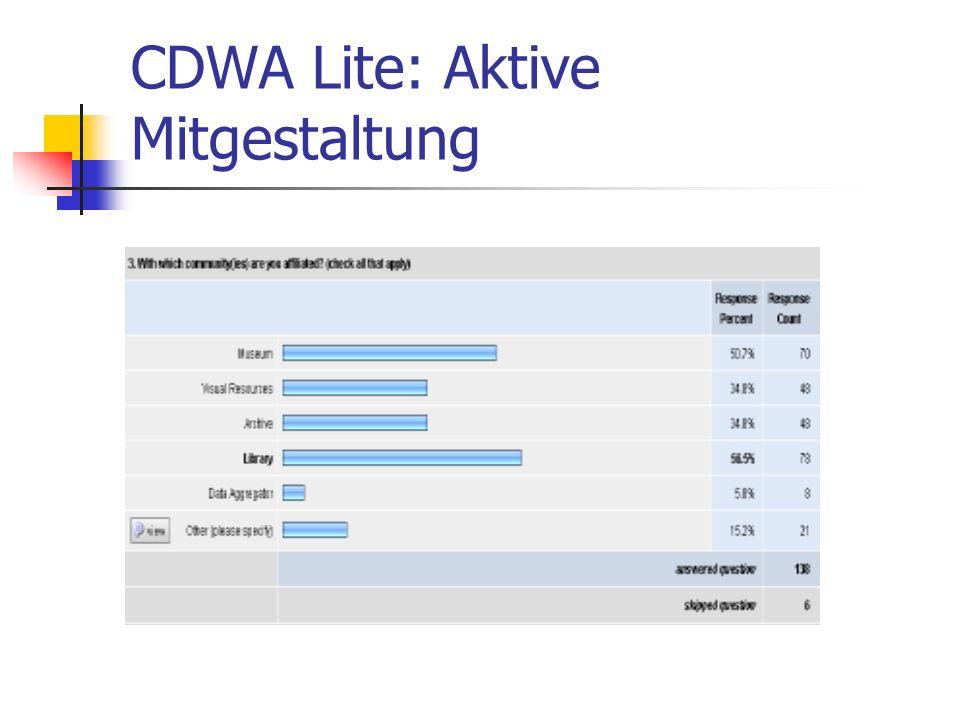 CDWA Lite: Aktive Mitgestaltung