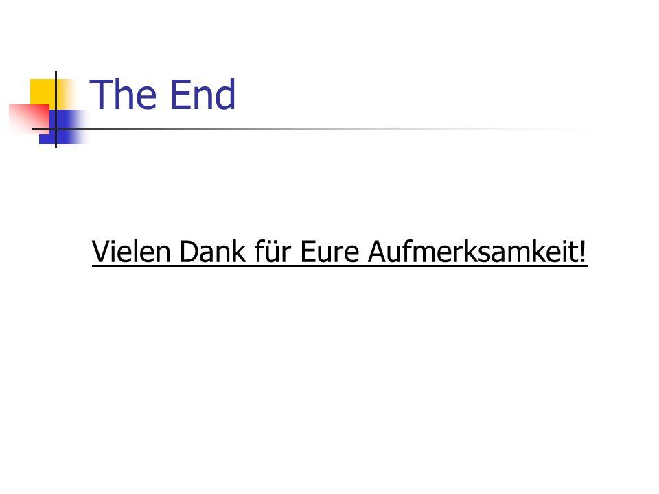 The End Vielen Dank für Eure Aufmerksamkeit!