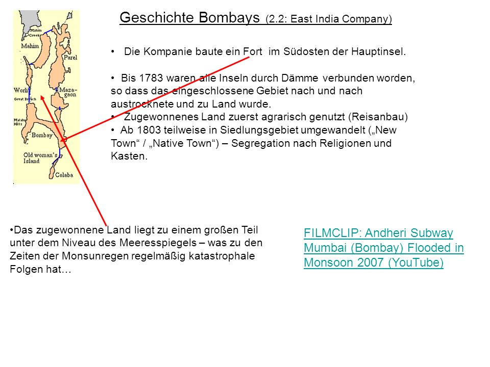Geschichte Bombays (3.1: Das 19.Jahrhundert) Anfang des 19.