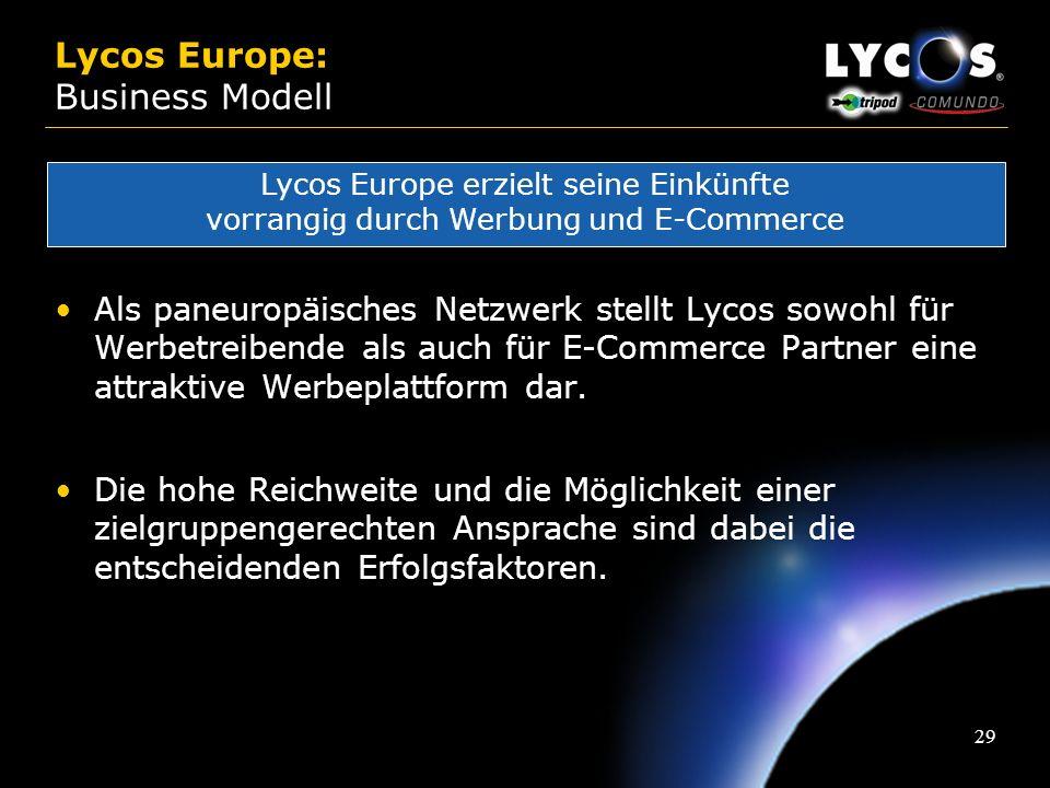 28 Multibrand-Strategy: Die Entwicklung... Entwicklung neuer paneuropäischer Marken Neue Technologien: Broadband, WAP, WebTV Neuer Content & neue Prod
