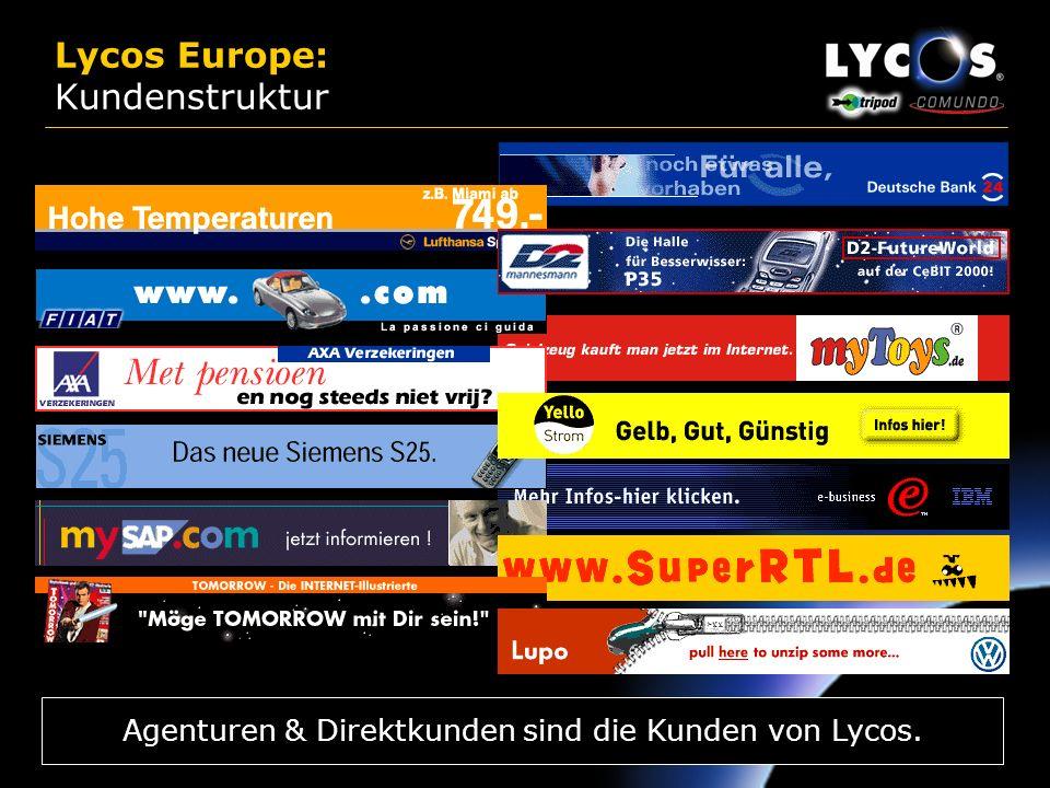 29 Lycos Europe: Business Modell Als paneuropäisches Netzwerk stellt Lycos sowohl für Werbetreibende als auch für E-Commerce Partner eine attraktive W