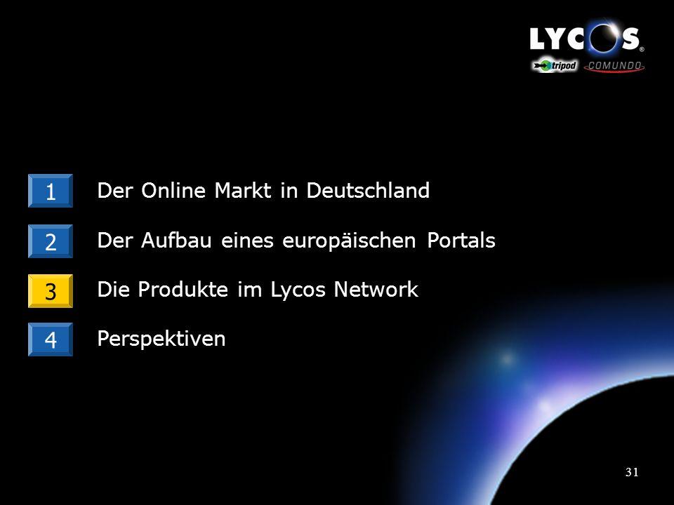 30 Lycos Europe: Kundenstruktur Agenturen & Direktkunden sind die Kunden von Lycos.