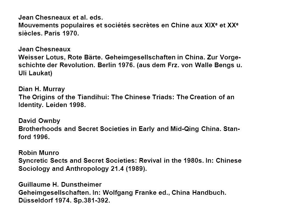 Jean Chesneaux et al. eds.