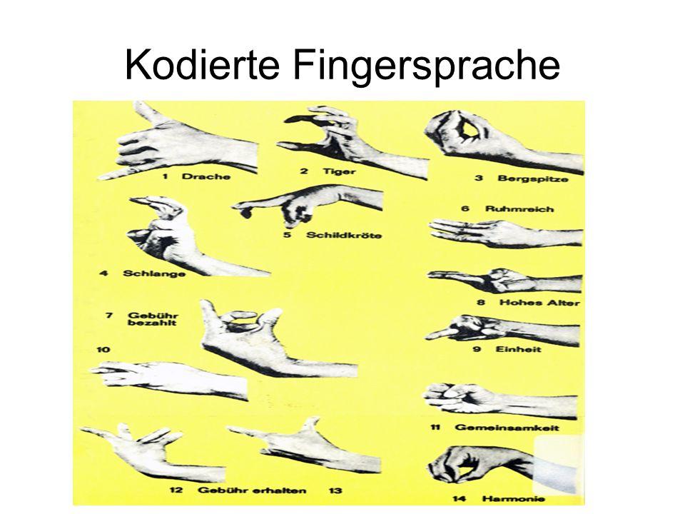 Kodierte Fingersprache