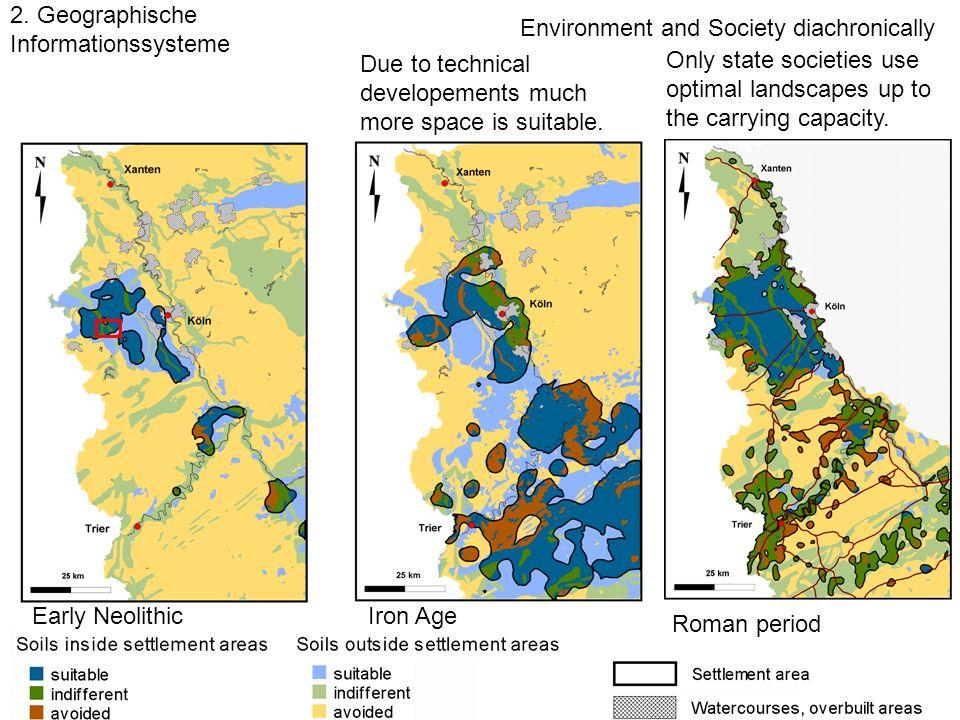 Landschaftsarchäologie Wirtschaftsflächen Besiedlungsgeschichte 2. Wirtschaftsareale