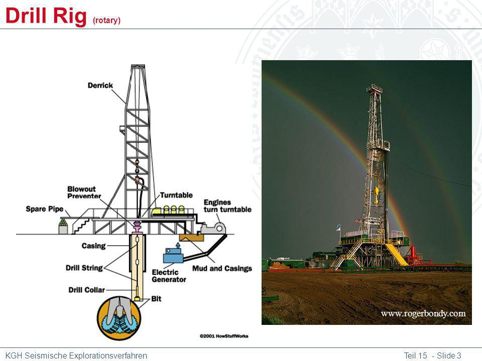 KGH Seismische Explorationsverfahren Teil 15 - Slide 3 www.rogerbondy.com Drill Rig (rotary)