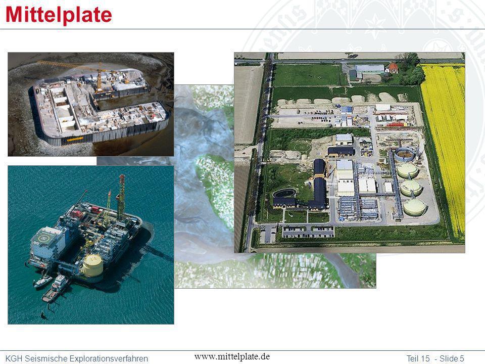 KGH Seismische Explorationsverfahren Teil 15 - Slide 6 7.727, 8.284, 8.367, 8.995, 9.275, 8.450 and 8.672 meter Mittelplate www.mittelplate.de