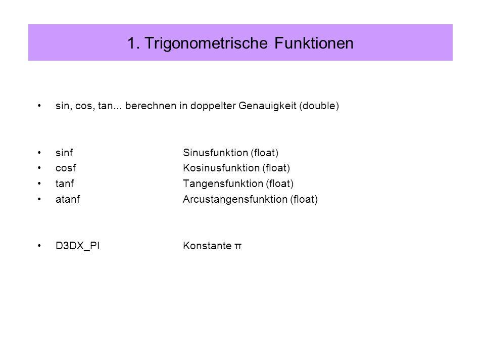 typedef struct _D3DVECTOR { float x; float y; float z; } D3DVECTOR; 2.