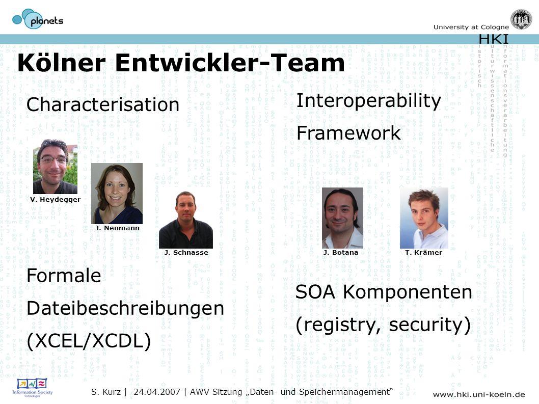 Kölner Entwickler-Team Characterisation S.