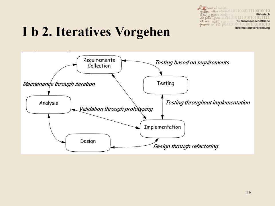 I b 2. Iteratives Vorgehen 16