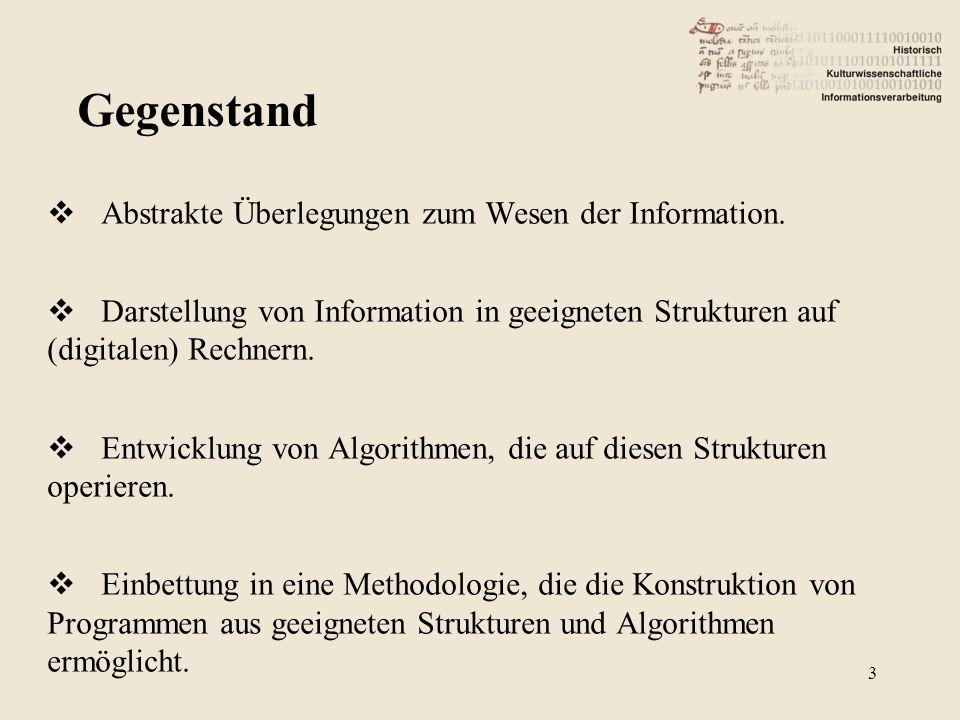 Abstrakte Überlegungen zum Wesen der Information.