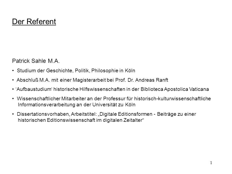 2 Das Thema CEEC Codices Electronici Ecclesiae Coloniensis Forschungsprojekt zur digitalen Erschließung der Erzbischöflichen Diözesan- und Dombibliothek Köln