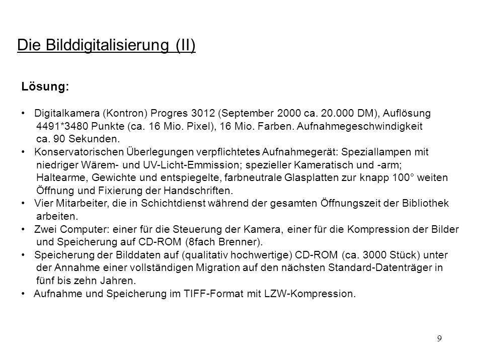 30 Vom Informationsangebot zum elektronischen Arbeitsplatz: Erweiterungen (6): Von der Bestandserschließung zu neuen Editionsformen.