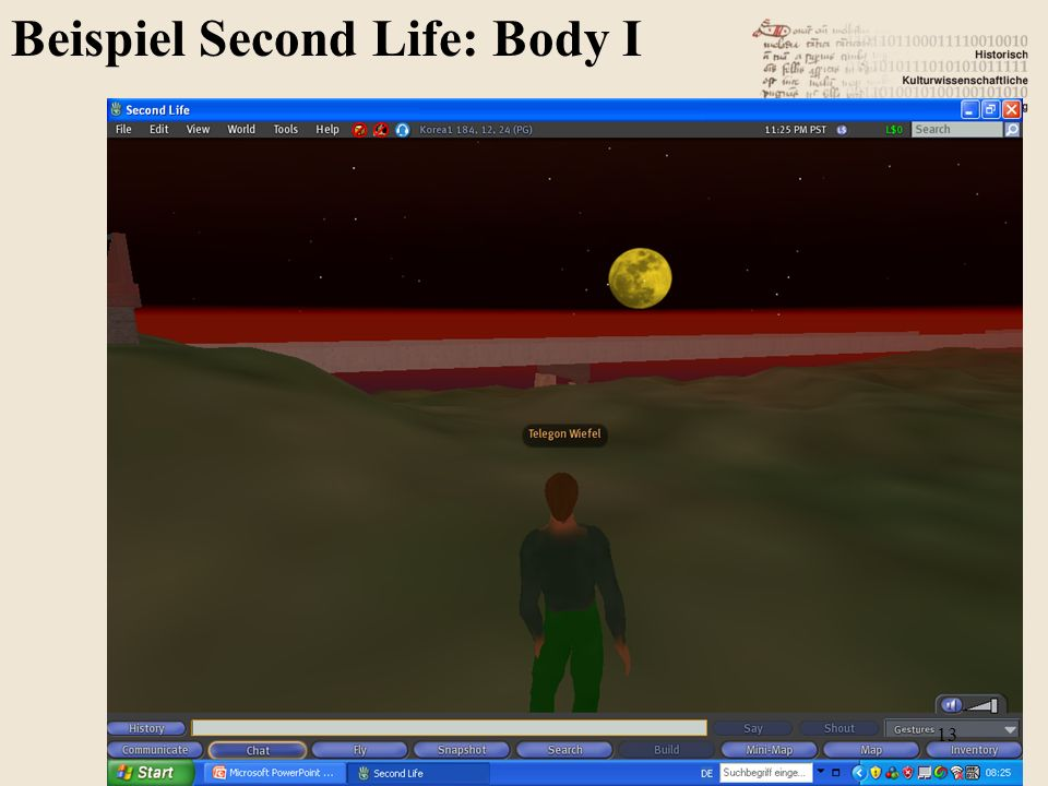 Beispiel Second Life: Body I 13