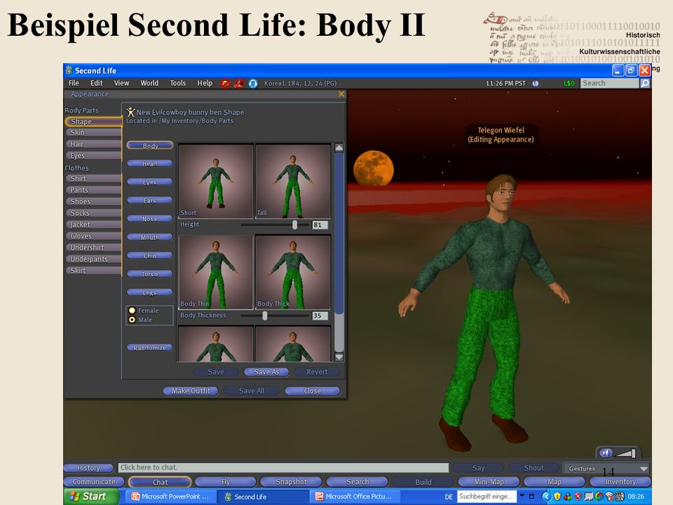 Beispiel Second Life: Body II 14