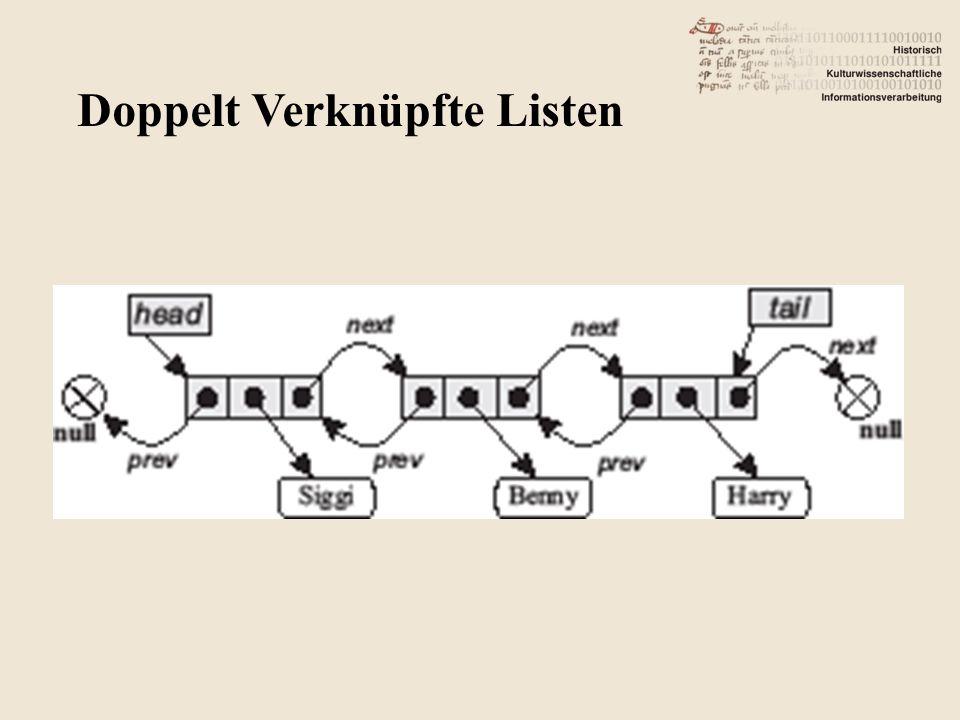 Doppelt Verknüpfte Listen