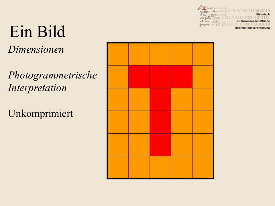 Dimensionen Photogrammetrische Interpretation Unkomprimiert Ein Bild