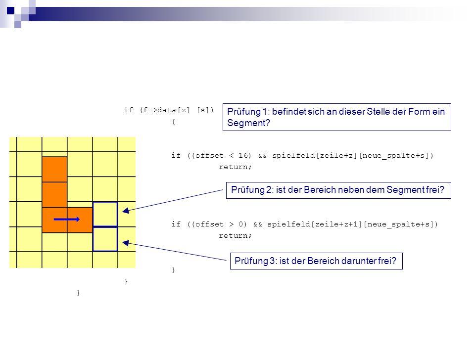if (f->data[z] [s]) { if ((offset < 16) && spielfeld[zeile+z][neue_spalte+s]) return; if ((offset > 0) && spielfeld[zeile+z+1][neue_spalte+s]) return;