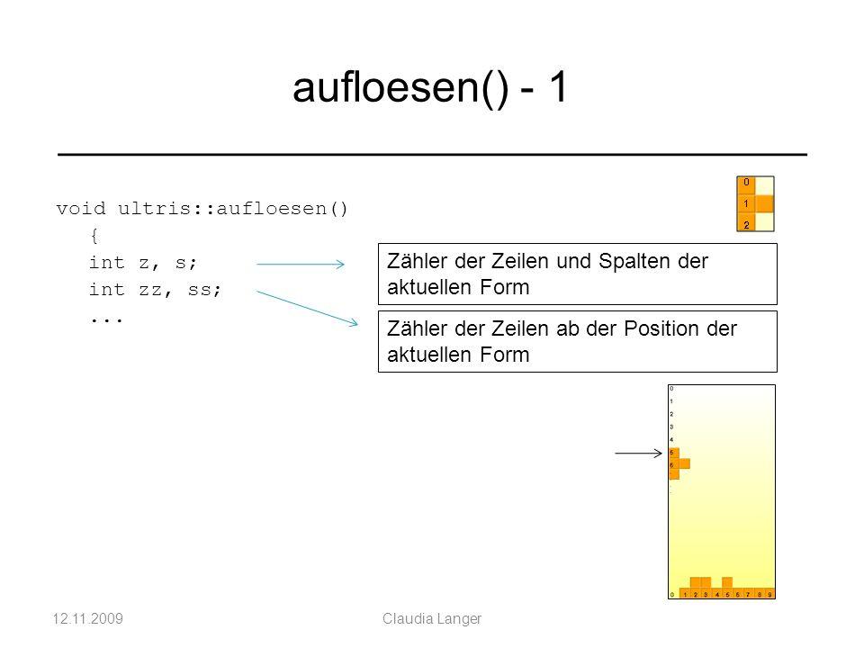void ultris::aufloesen() { int z, s; int zz, ss;...