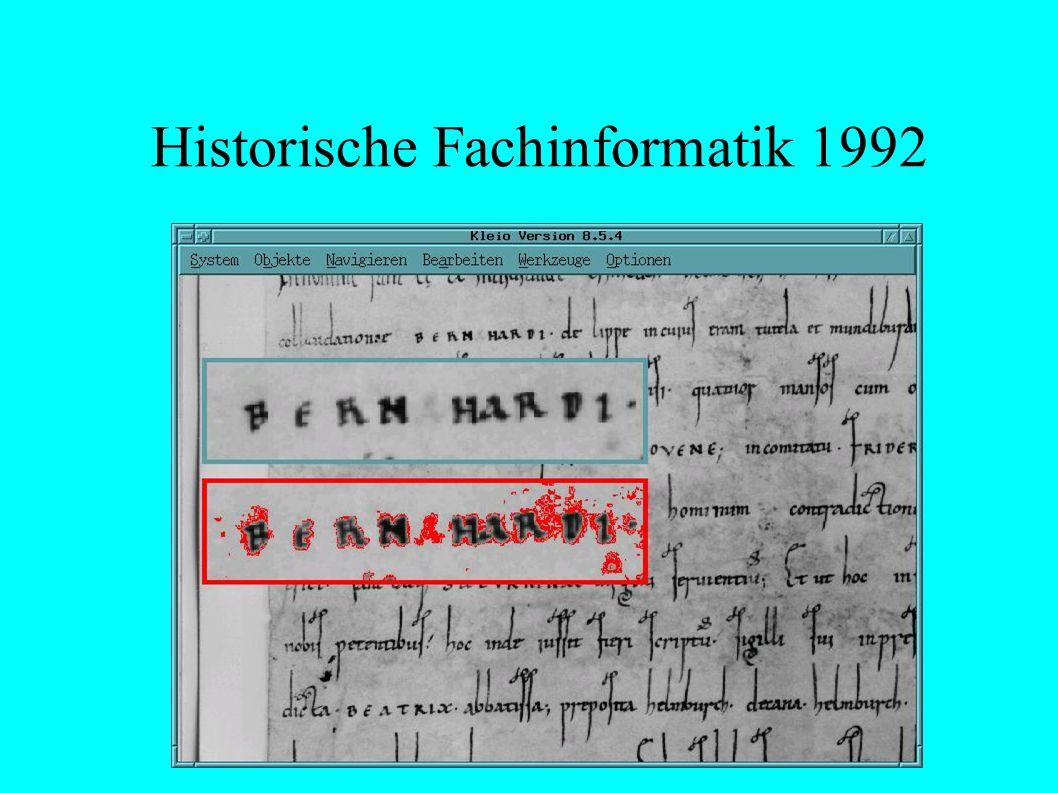 Historische Fachinformatik 1992