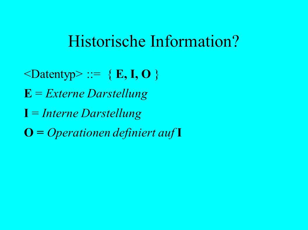 Historische Information.