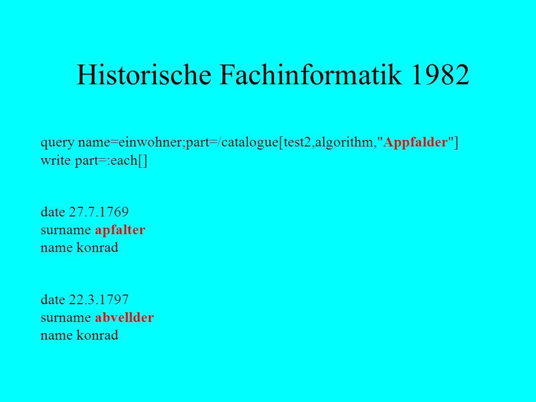 Historische Fachinformatik 1984 Die Orthographie von Texten schwankt historisch insgesamt.