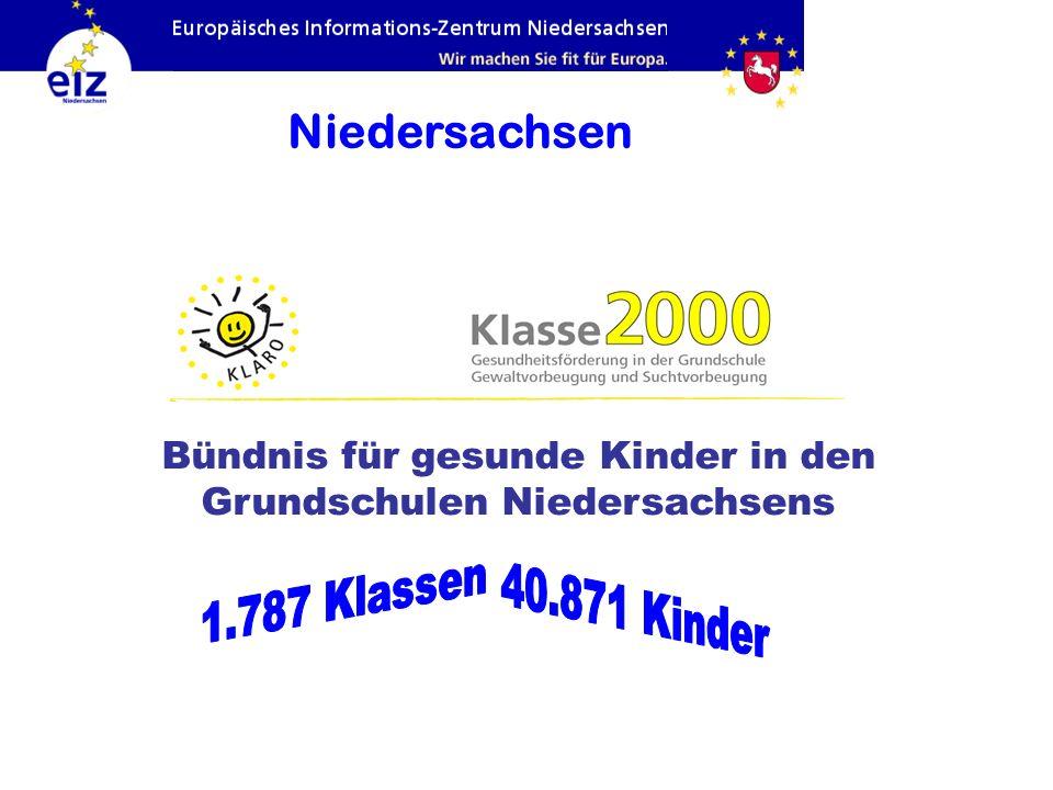 Niedersachsen Bündnis für gesunde Kinder in den Grundschulen Niedersachsens