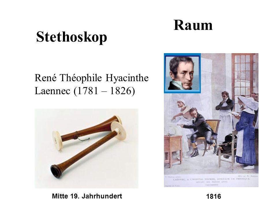 Stethoskop René Théophile Hyacinthe Laennec (1781 – 1826) Mitte 19. Jahrhundert 1816 Raum