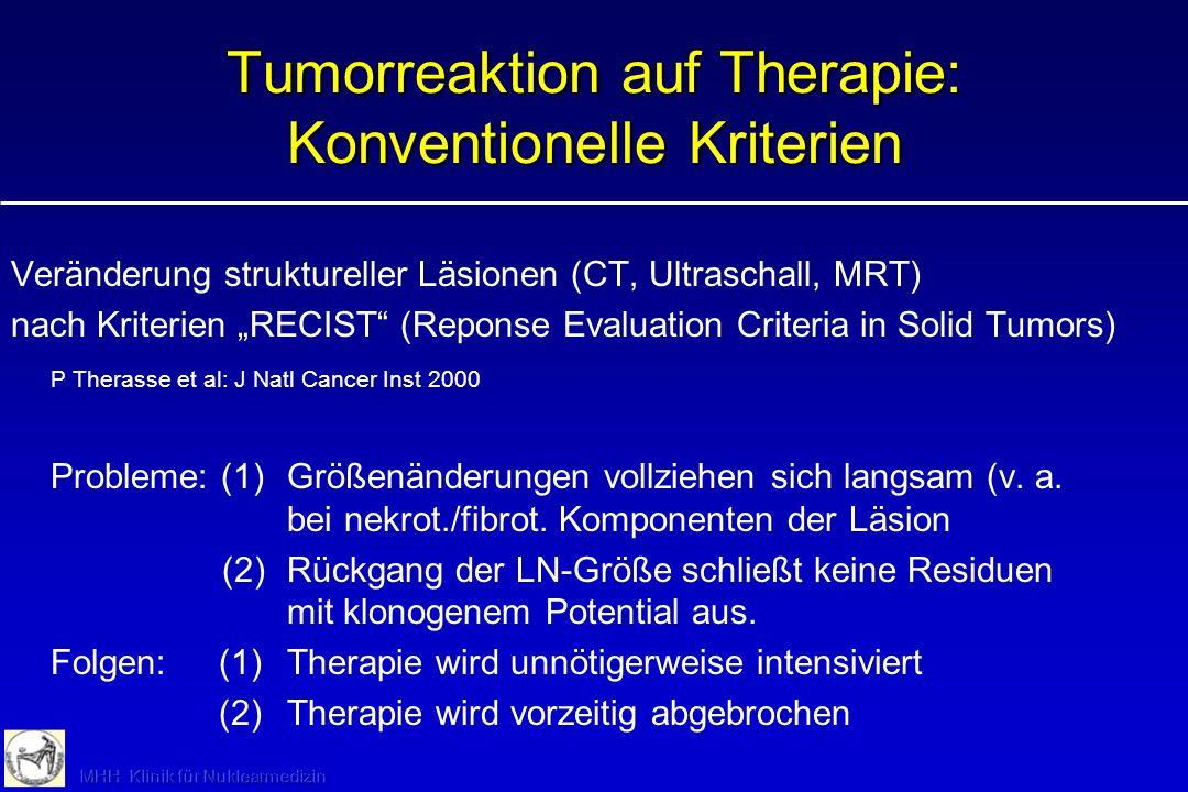 Tumorreaktion auf Therapie: Vorteil PET.