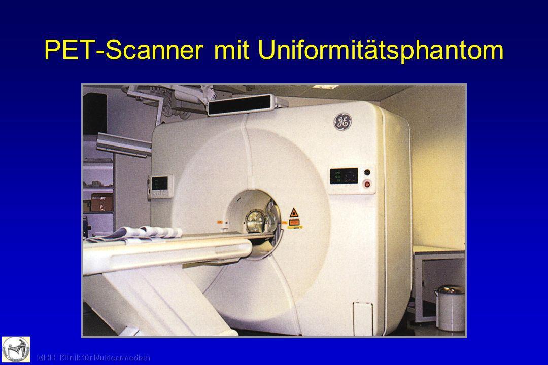 PET-Scanner mit Uniformitätsphantom