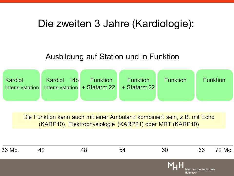 Funktionsbereiche Nicht-invasive Bildgebung (Echo, MRT) Koronardiagnostik – und therapie (HK) Elektrophysiologie Es ist empfehlenswert, sich im zweiten Teil der Weiterbildung für einen Schwerpunkt zu entscheiden