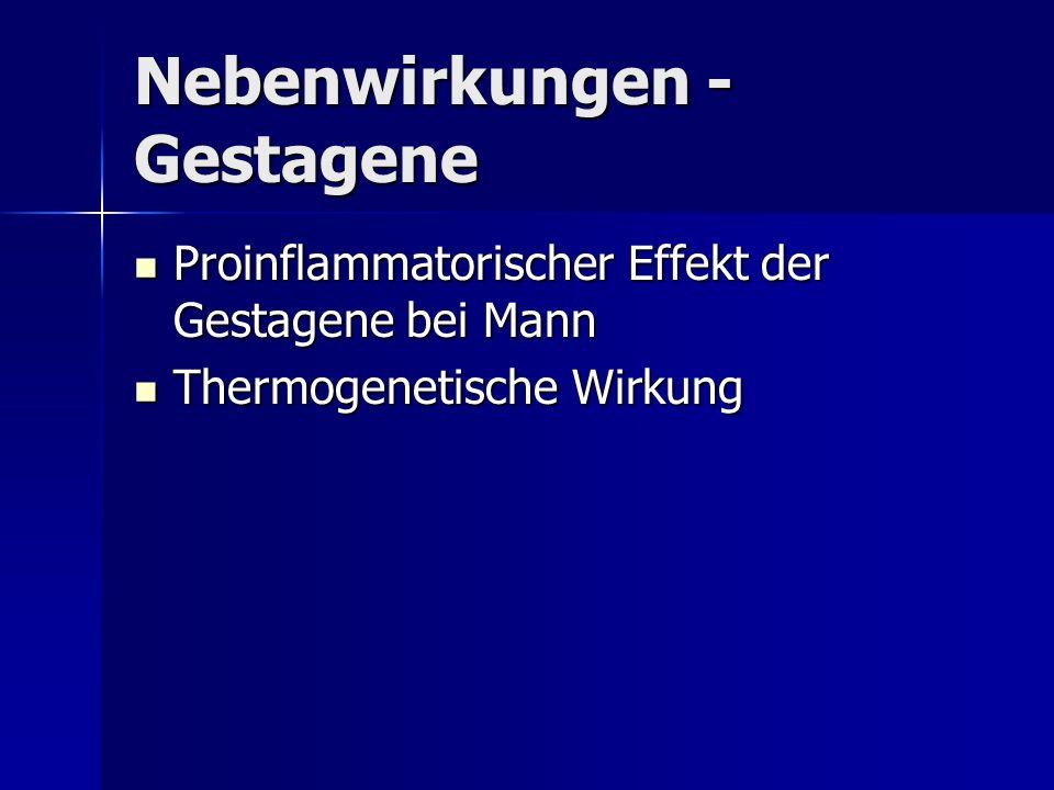 Nebenwirkungen - Gestagene Proinflammatorischer Effekt der Gestagene bei Mann Proinflammatorischer Effekt der Gestagene bei Mann Thermogenetische Wirk