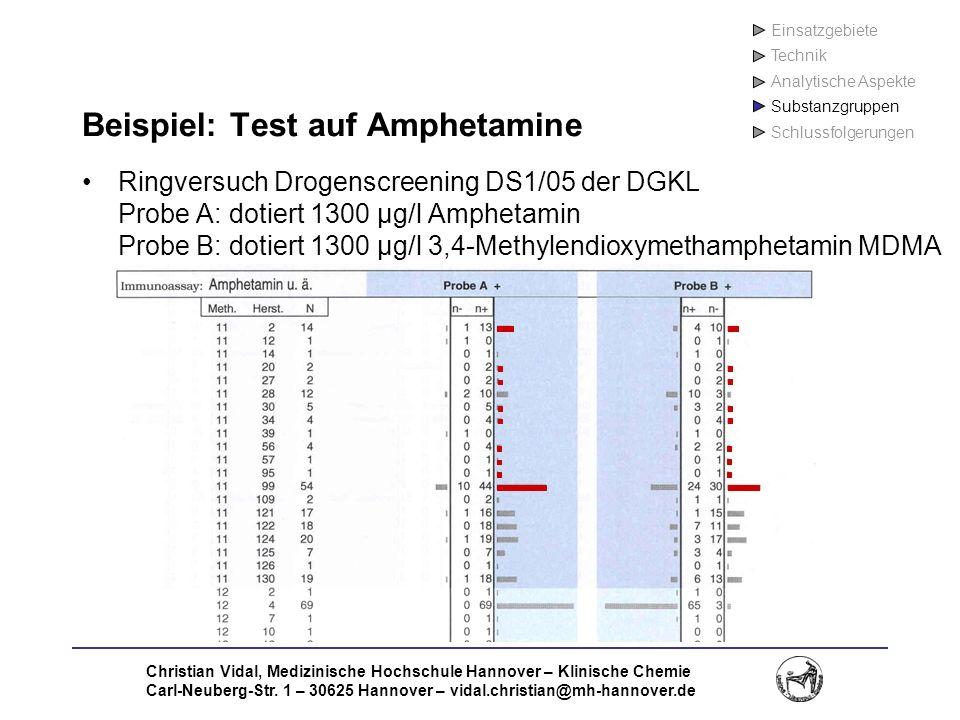 Christian Vidal, Medizinische Hochschule Hannover – Klinische Chemie Carl-Neuberg-Str. 1 – 30625 Hannover – vidal.christian@mh-hannover.de Beispiel: T