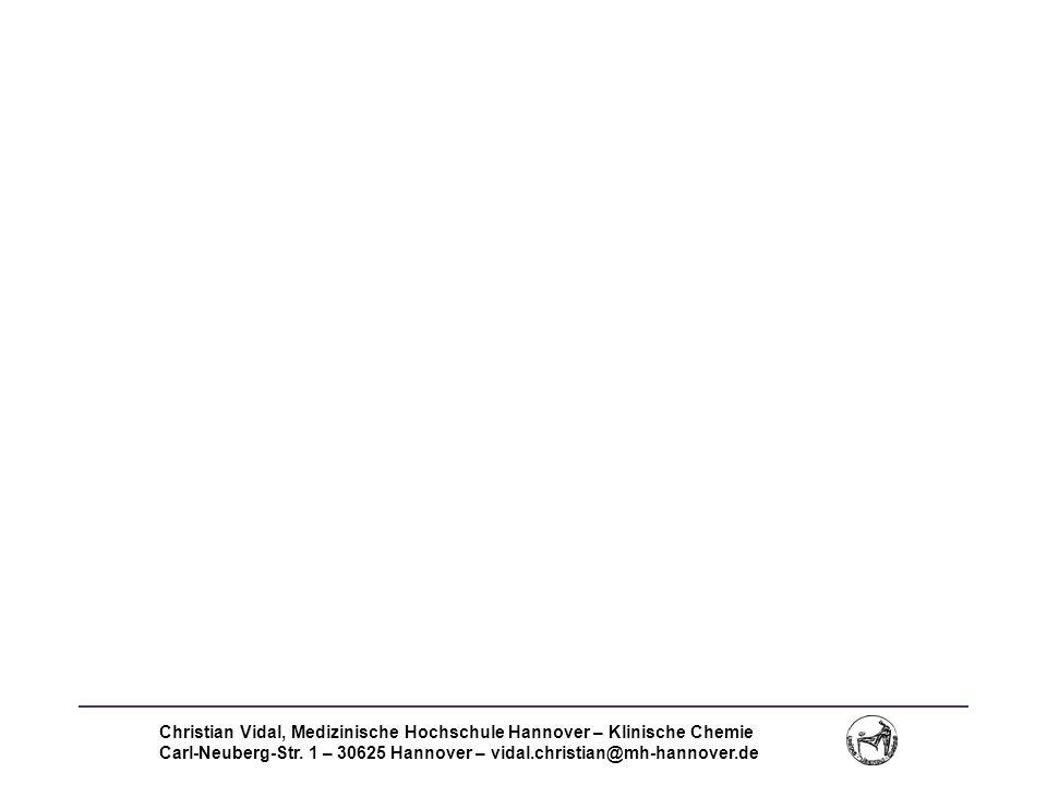 Christian Vidal, Medizinische Hochschule Hannover – Klinische Chemie Carl-Neuberg-Str. 1 – 30625 Hannover – vidal.christian@mh-hannover.de