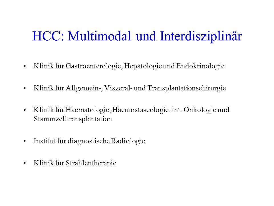 Risikofaktoren für die Entstehung eines HCC chronische HBV + HCV Infektion Alkohol Aflatoxine Hämochromatose Übergewicht/Diabetes (NASH) Leberzirrhose