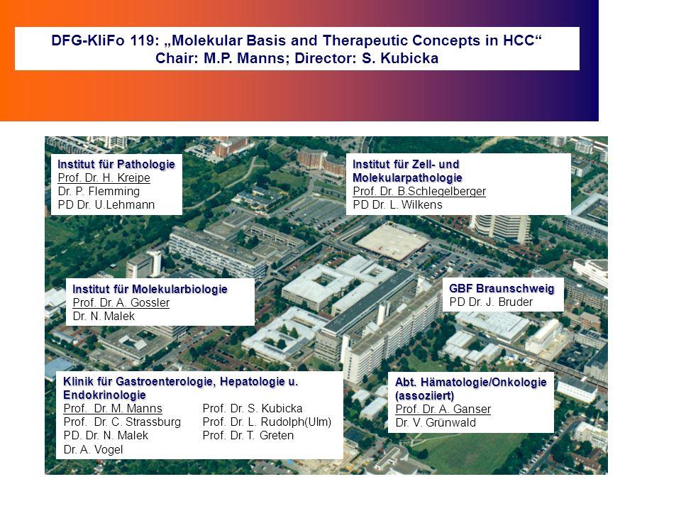 Risikofaktoren für ein HCC Leberzirrhose ohnemit HBV HCV Aflatoxin BMI 35 kg/m 2 Rauchen +++ ++ + + +++ Hämochromatose Alkohol PBC / PSC / M.