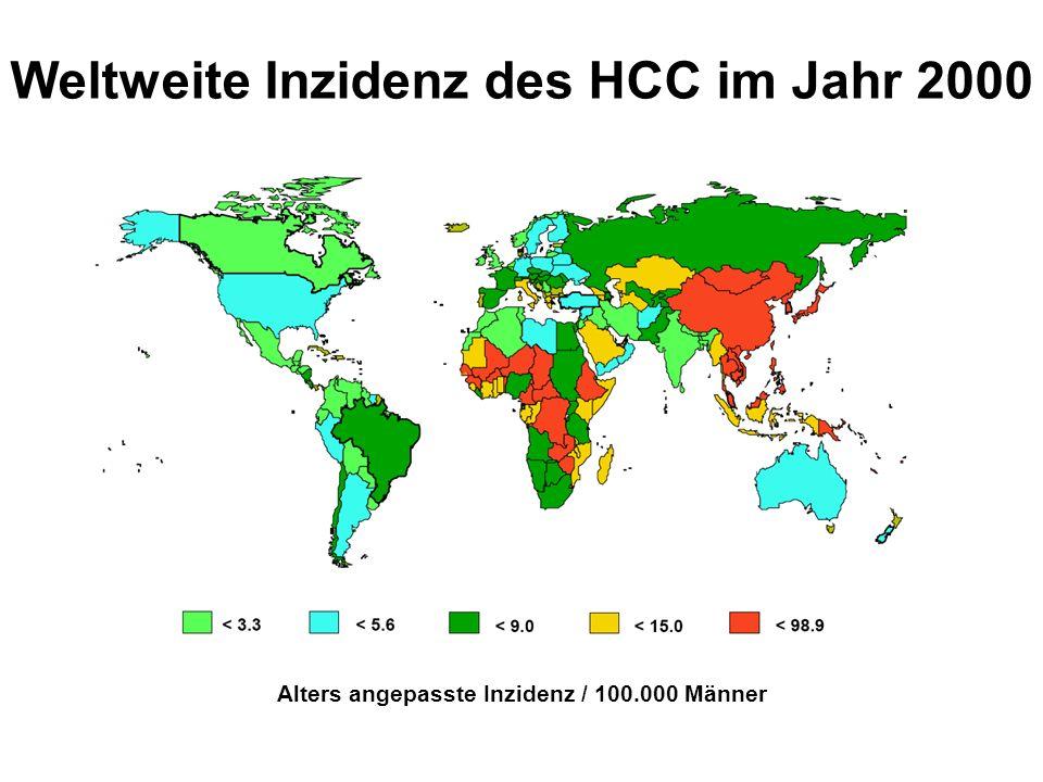 Geschätztes HCC Risiko 012345 0 10 20 30 HCV HBV Alkohol Kumulative Inzidenz für ein HCC [%] Jahre Greten, Wedemeyer, Manns Deutsches Ärzteblatt in press Prof.