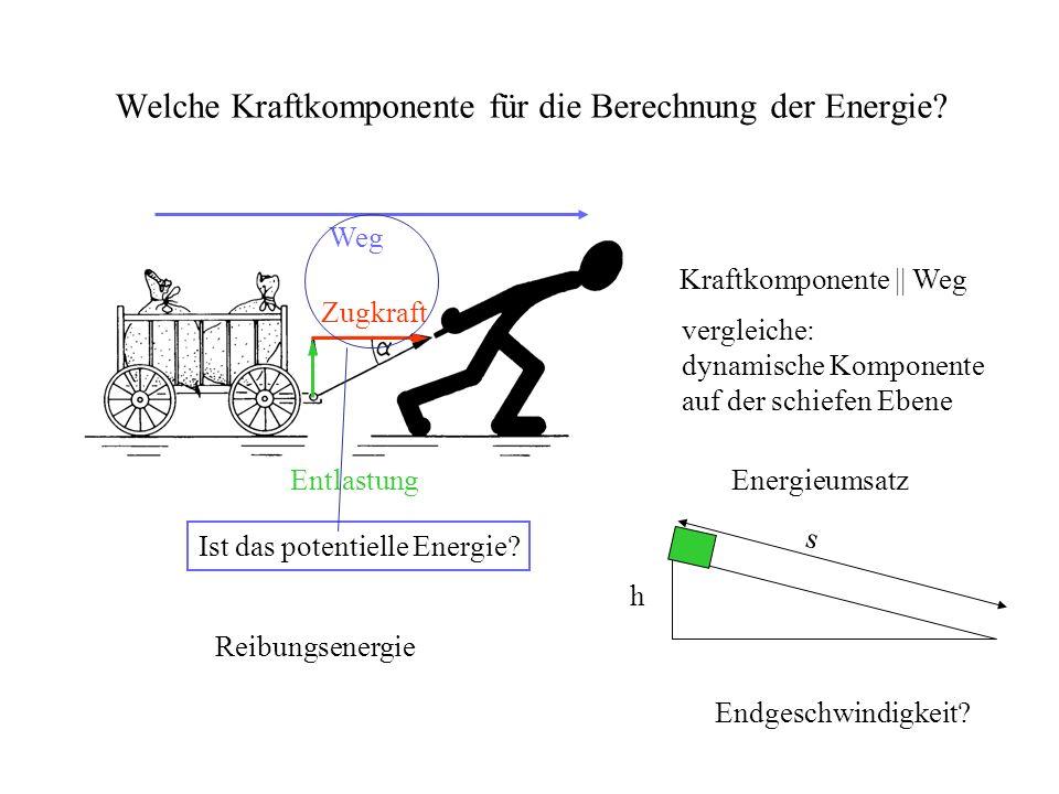Schwerpunkt m Weg || Kraft benötigte Zeit t Leistung Leistungsmessung Ergometer kurzfristige Spitzenleistung Dauerleistung und Grundumsatz h (Hörsaaltreppe) 4,3 m Einsatz für Beschleunigung Reibung auf Treppenstufen und Abbremsung