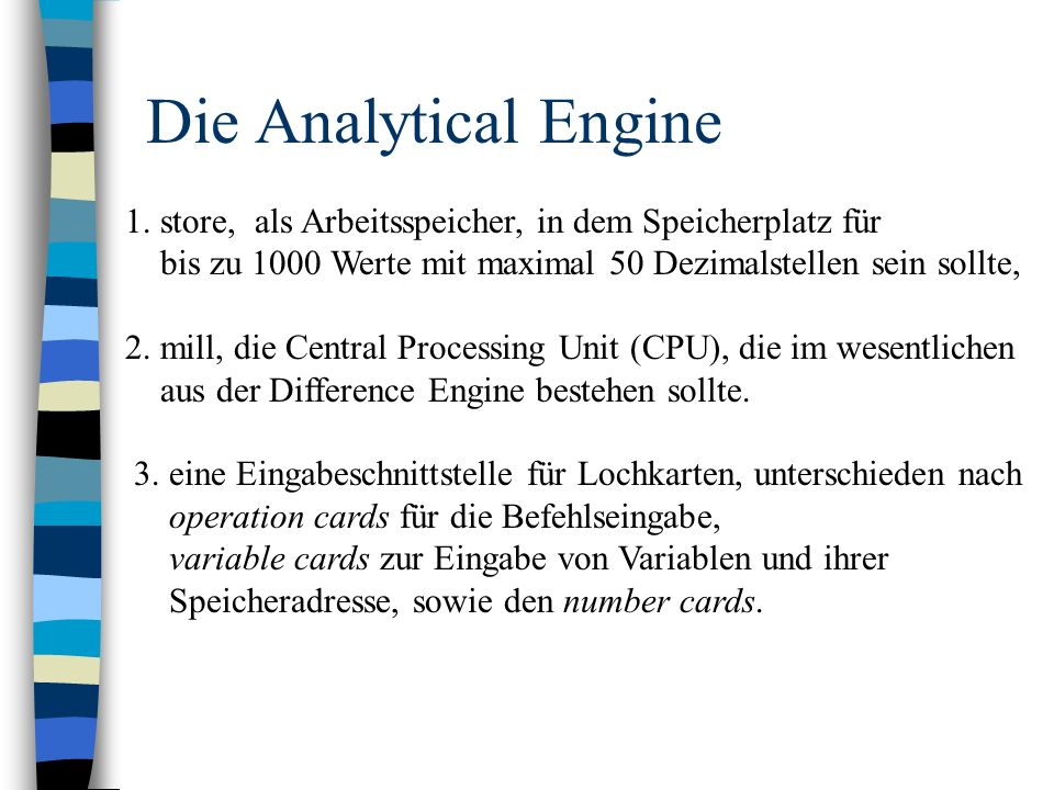 Die Analytical Engine 1.