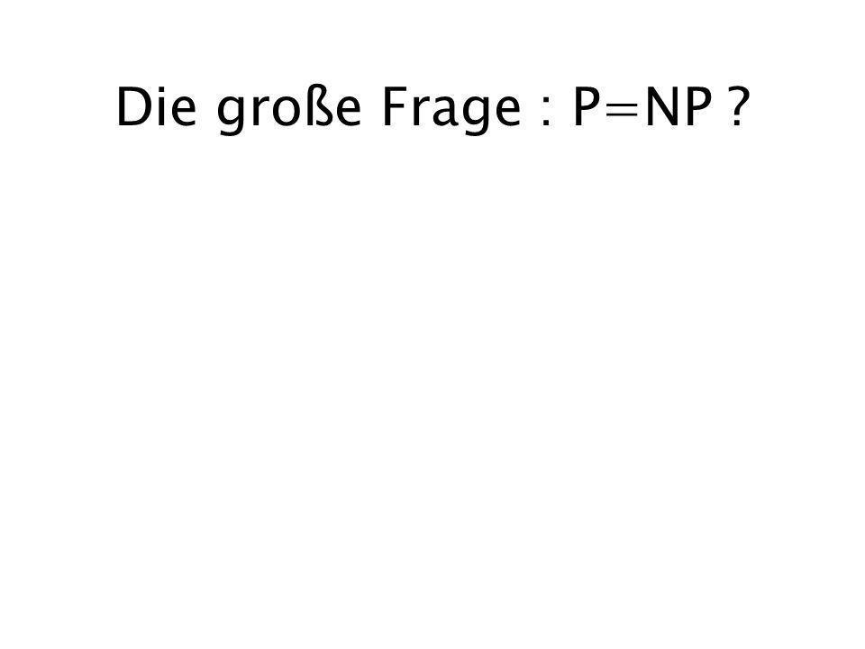 Die große Frage : P=NP ?