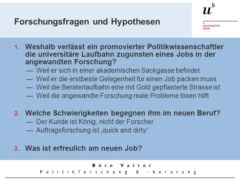 Forschungsfragen und Hypothesen 1.