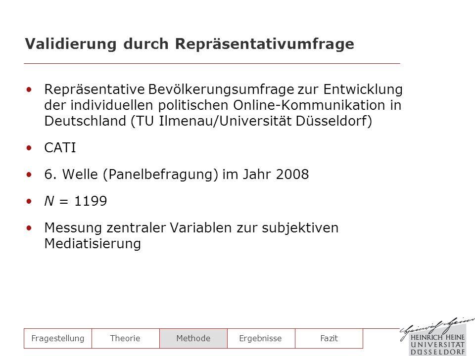 Repräsentative Bevölkerungsumfrage zur Entwicklung der individuellen politischen Online-Kommunikation in Deutschland (TU Ilmenau/Universität Düsseldor