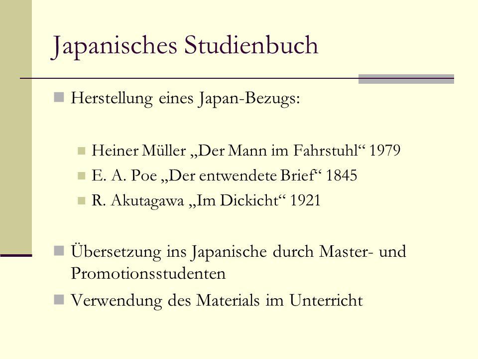 Japanisches Studienbuch Herstellung eines Japan-Bezugs: Heiner Müller Der Mann im Fahrstuhl 1979 E.